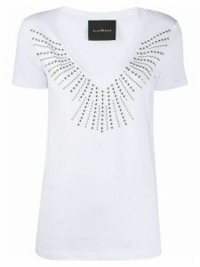 John Richmond studded V-neck T-shirt - White