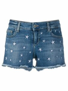 LIU JO star-embroidered denim shorts - Blue
