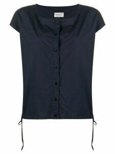 Woolrich front buttoned T-shirt - Blue