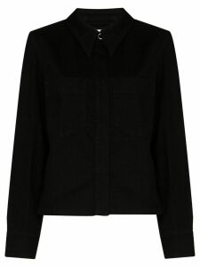 Lemaire denim overshirt - Black