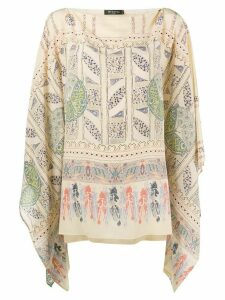 Etro geometric print silk blouse - NEUTRALS