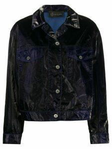 Mr & Mrs Italy crinkled vinyl jacket - Blue