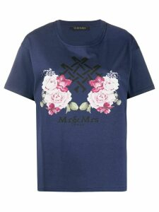 Mr & Mrs Italy logo T-shirt - Blue