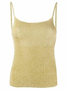 Laneus fine knit tank top - GOLD