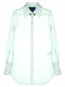 Simon Miller sheer longline shirt - Blue