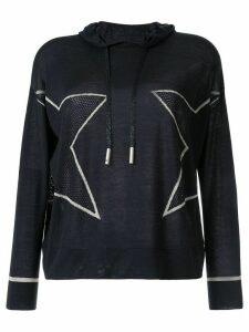 Lorena Antoniazzi star print hoodie - Blue