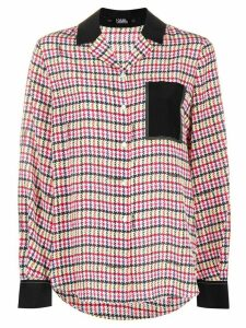 Karl Lagerfeld check print shirt - White