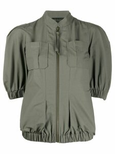 Mr & Mrs Italy short sleeve panelled jacket - Green