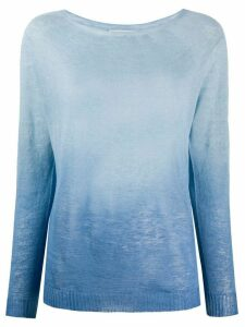 Zanone ombre print knit top - Blue
