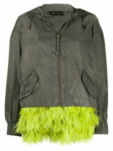 Mr & Mrs Italy feather-trim hooded jacket - Green