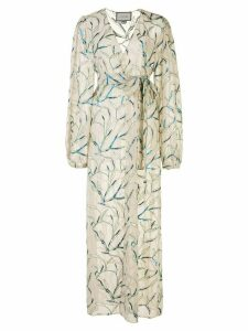 Alexis Amaia wrap dress - NEUTRALS