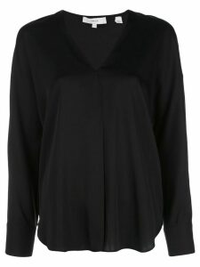 Vince v-neck boxy blouse - Black