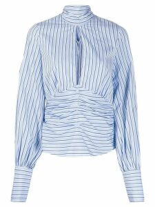 Victoria Victoria Beckham split front striped top - Blue