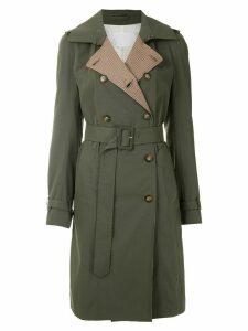 Nk Gabardine trench coat - Green
