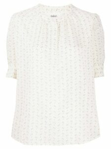 Ba & Sh embroidered short-sleeve blouse - NEUTRALS