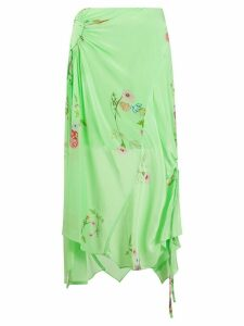 Preen Line Arya gathered floral skirt - Green