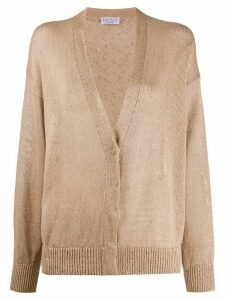 Brunello Cucinelli sequn-embellished dropped shoulder cardigan -