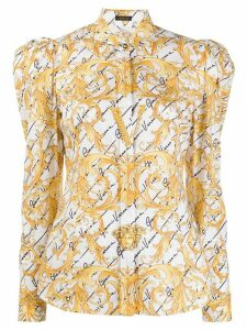 Versace puff shoulder blouse - White