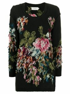 Preen By Thornton Bregazzi Lei floral embroidered jumper - Black