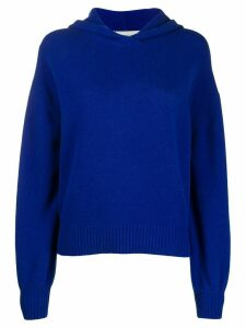 Pringle of Scotland long-sleeve hooded jumper - Blue