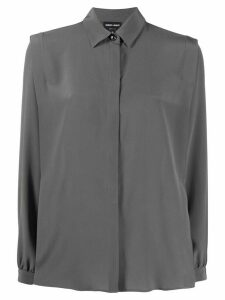 Giorgio Armani relaxed-fit shirt - Grey