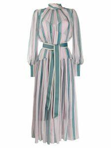 Zimmermann Wavelength roll neck dress - Blue