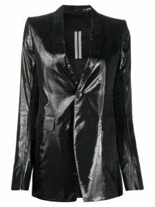 Rick Owens shine-finish single breasted blazer - Black