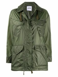 Aspesi drawstring hem raincoat - Green