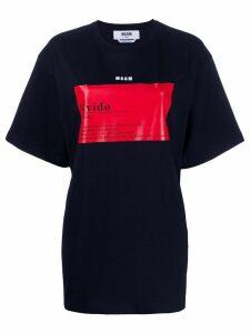 MSGM Vivido-print boxy T-shirt - Black