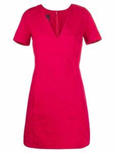 Pinko V-neck shortsleeved dress - Red