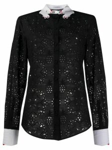 Vivetta embroidered lace shirt - Black