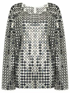 Ashish oversized sequinned top - Grey