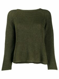 Zanone ribbed long-sleeve jumper - Green