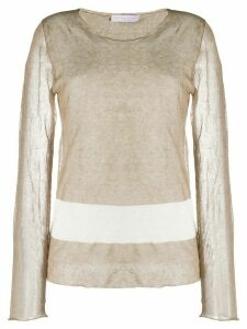 Fabiana Filippi sheer fine knit top - Brown
