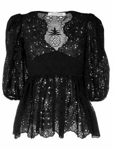 Vivetta embroidered lace blouse - Black