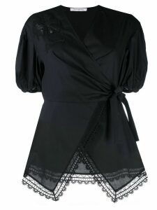 Vivetta embroidered wrap-front blouse - Black