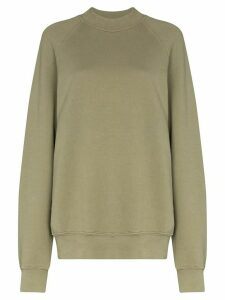 Les Tien mock neck cotton sweatshirt - Green