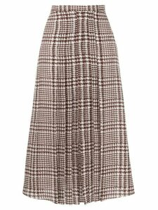 Alessandra Rich high-waisted houndstooth skirt - Brown