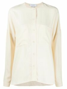 Equipment collarless shirt - NEUTRALS