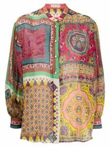 Etro paisley print shirt - PINK