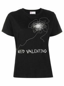 RedValentino logo-printed T-shirt - Black