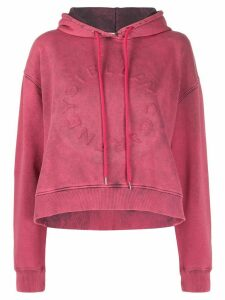 Stella McCartney cropped acid wash hoodie - PINK