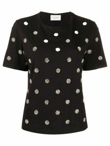 Giuseppe Di Morabito crystal embellished T-shirt - Black