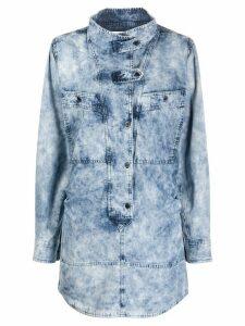 Isabel Marant Étoile button tab denim dress - Blue