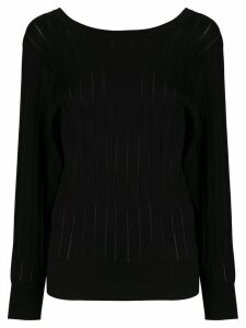 Agnona fine knit ribber jumper - Black