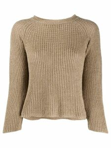Zanone three-quarter sleeve jumper - Brown