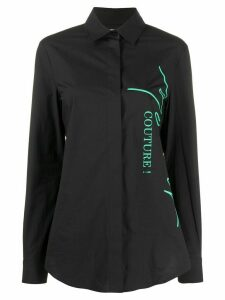Moschino logo print shirt - Black