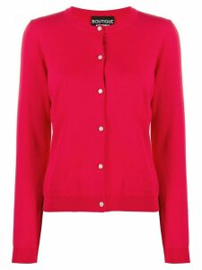 Boutique Moschino knit button-up cardigan - Red