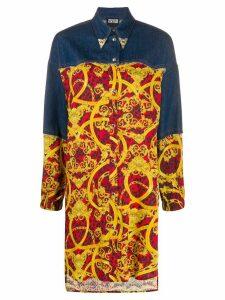 Versace Jeans Couture denim panel shirt - Blue
