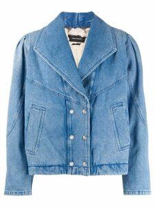 Isabel Marant double breasted denim jacket - Blue